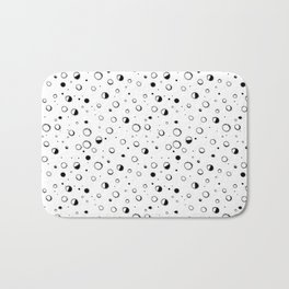 Pattern design with moons and craters Bath Mat