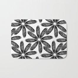 Ballpoint Flower Pattern Bath Mat