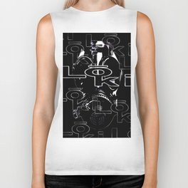 loki stitch design - black mask Biker Tank