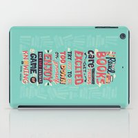 risa rodil iPad Cases featuring Read Books by Risa Rodil