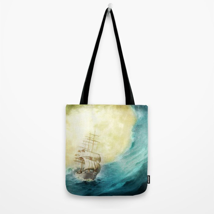 Through Stormy Waters Tote Bag