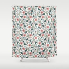 Blush Blooms Shower Curtain
