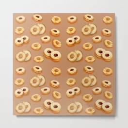 Biscotti-Butterum (pattern) Metal Print