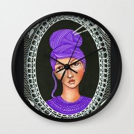 She's Crafty Wall Clock