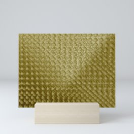 Raindrops pattern sepia Mini Art Print