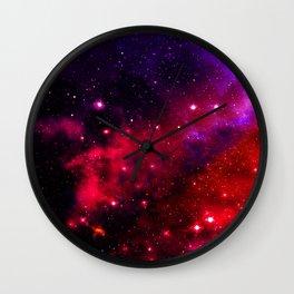Pink Black Blue Wall Clock