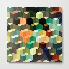 Loca Cubes Metal Print