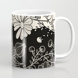 FLOWERS EBONY AND IVORY Coffee Mug