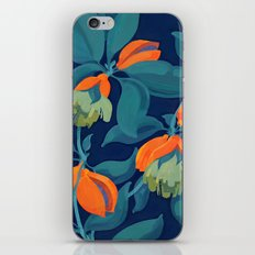 Tropical orange fruit tree iPhone Skin