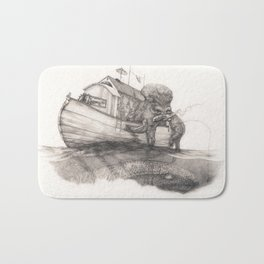 Hanging in a Houseboat Bath Mat
