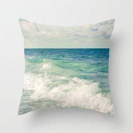 Tropical Beach Bliss Throw Pillow