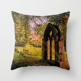 Manor house landscape. Throw Pillow