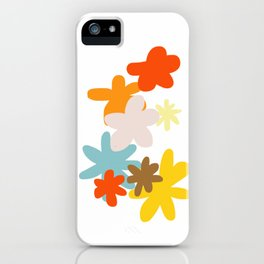 Colorful Wildflowers Illustration iPhone Case