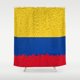 Extruded flag of Columbia Shower Curtain