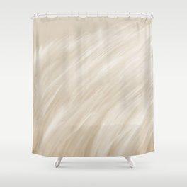 Furry 3 Cream White - Abstract Art Series Shower Curtain