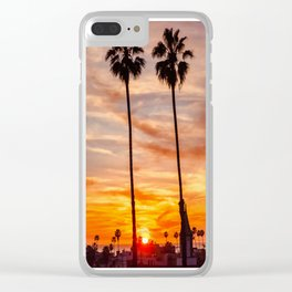 Santa Monica Sunset Clear iPhone Case