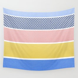 Halftone Stripes Wall Tapestry