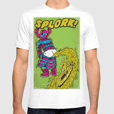 Splork Mens Fitted Tee MEDIUM White