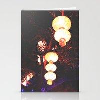 lanterns Stationery Cards featuring Lanterns by Kaartik Gupta
