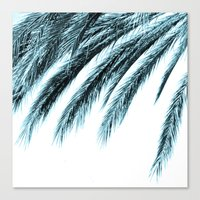 palm Canvas Prints featuring palm by Sweet Karalina