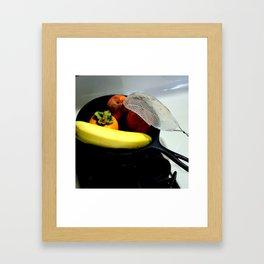 Fruit Fry, Armed And Ready Framed Art Print