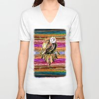 indian V-neck T-shirts featuring Indian Colors by Joke Vermeer