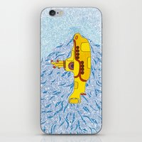 yellow submarine iPhone & iPod Skins featuring My Yellow Submarine by Cris Couto