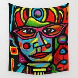 The Gift - Expressionism Portrait Wall Tapestry
