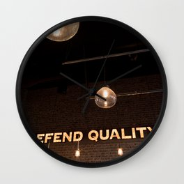 Defend Quality Wall Clock