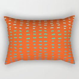 Fiesta at Festival - Orange Rectangular Pillow