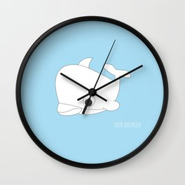 YOUR.DOLPHIN Wall Clock