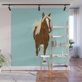 Quarter Horse Equestrian Illustrated Print Wall Mural
