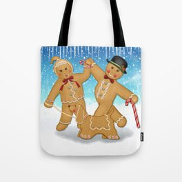 Gingerbread Family Winter Fun Tote Bag