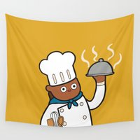 chef Wall Tapestries featuring When I grow up I want to be a chef! by evannave