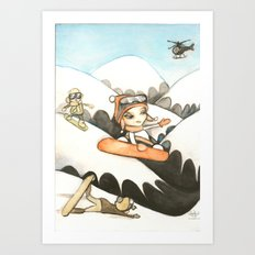 Snowboarders Art Print