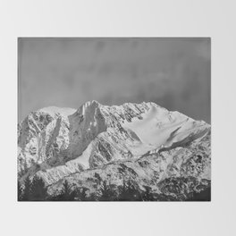 Mountain Glacier Two Throw Blanket