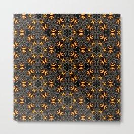 Black Pumpkin Pattern Metal Print