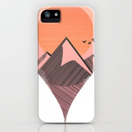 Pin Location Mountains Travel Lover Hiker Climbers Grunge iPhone Case