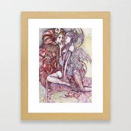 Devil & Jester Framed Art Print
