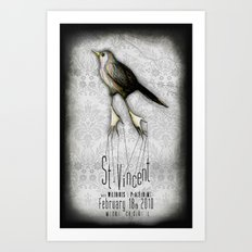 St. Vincent @ Metro Art Print