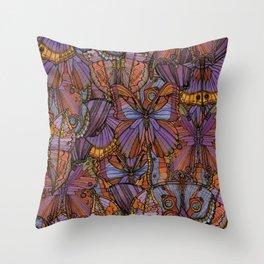 Cool Moths and Butterflies Throw Pillow