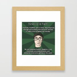 Unfortunate Aspie Meme Framed Art Print