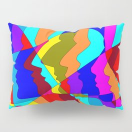 Profiles in Colors and Tones, 60's and 70's Pillow Sham