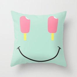Acid Cream Throw Pillow