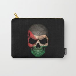 Dark Skull with Flag of Palestine Carry-All Pouch