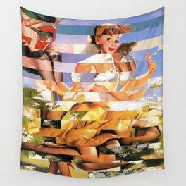 Glitch Pin-Up Redux: Xena Wall Tapestry