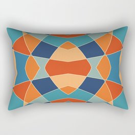 Retro Colored Abstract Butterfly Rectangular Pillow