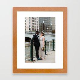 Wedding day Framed Art Print
