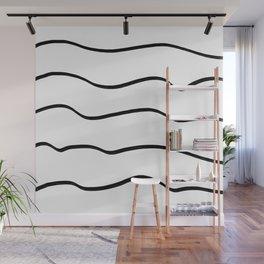 Black waves Wall Mural