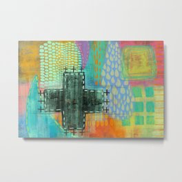 surprise inside - abstract painting Metal Print